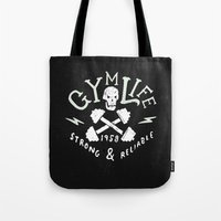 gym Tote Bags featuring Gym Life  by Textures
