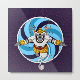 Hanuman Vantage Point Metal Print