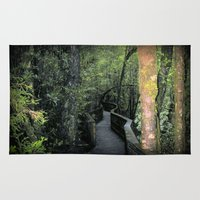 parks and recreation Area & Throw Rugs featuring Franklin - Gordon  National Parks by Chris' Landscape Images & Designs