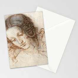 Leonardo da Vinci - Head of Leda Stationery Cards