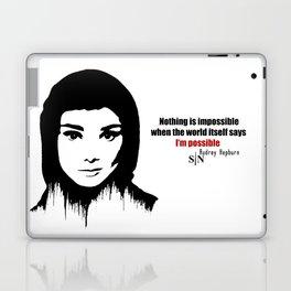 Audrey Hepburn art design ( black and white)  Laptop & iPad Skin