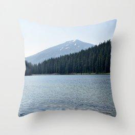 Mountain Spring at Lake Todd Throw Pillow