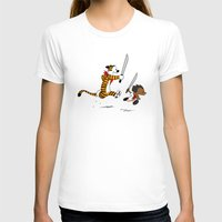 calvin hobbes T-shirts featuring Bonifacio and Hobbes by Cesar Cueva