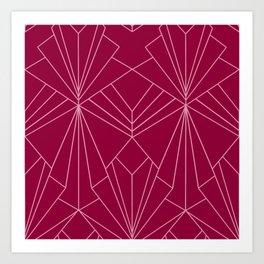 Art Deco in Raspberry Pink - Large Scale Art Print