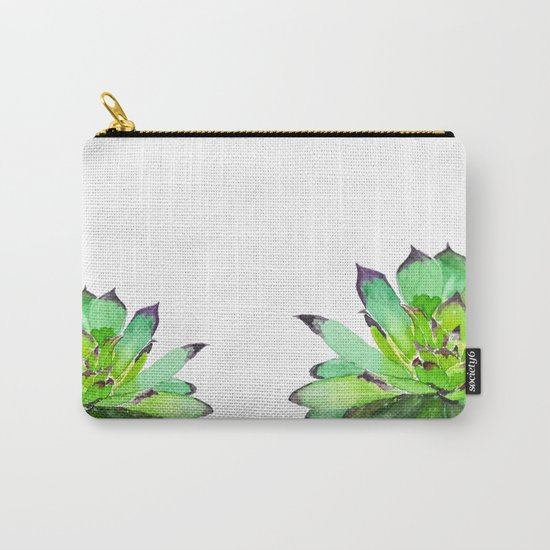 green succulent 2 Carry-All Pouch
