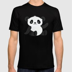 Happy Panda Black MEDIUM Mens Fitted Tee