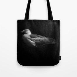 Herring Gull Monochrome Tote Bag