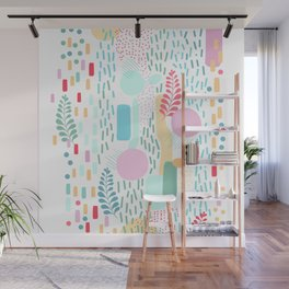 Abstract Nature - Colourful Doodle Pattern 3 Wall Mural