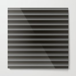 Black Ombre Stripes Metal Print