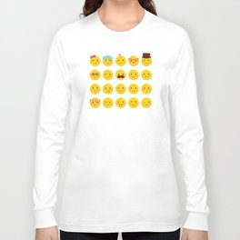 Cheeky Emoji Faces Long Sleeve T-shirt