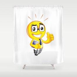 Funny lamp cartoon Shower Curtain