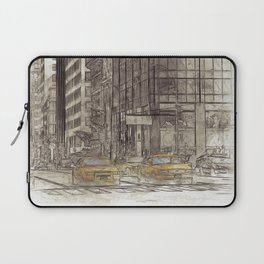 NYC Yellow Cabs NYPD - SKETCH Laptop Sleeve