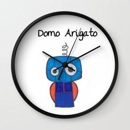 Domo Arigato Mr. Roboto Wall Clock
