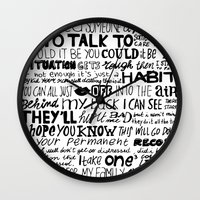 word Wall Clocks featuring Word by Etiquette