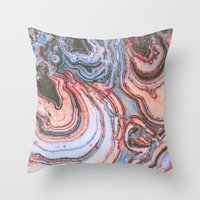 agate Throw Pillows featuring Agate by Jessilee Shipman