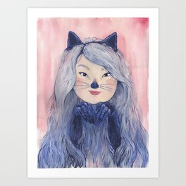 BaeBae Kitty Art Print