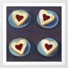 Linzer Cookies Art Print