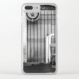Black and White Chair Clear iPhone Case