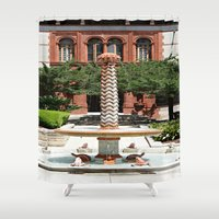 oasis Shower Curtains featuring Oasis by Photaugraffiti
