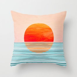 Minimalist Sunset III Throw Pillow