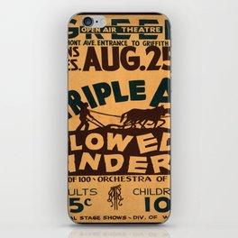 Vintage poster - Plowed Under iPhone Skin