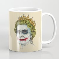 queen Mugs featuring God Save the Villain! by Enkel Dika