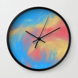 Wave of fire Wall Clock
