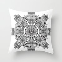 hamsa Throw Pillows featuring Hamsa by Paint it graphics