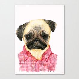 Stella in vichy shirt Canvas Print