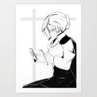 roosterteeth Art Prints featuring [RWBY] Glynda Goodwitch by AikiYun