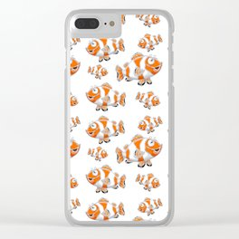 Happy Orange Fish Clear iPhone Case
