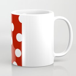 Polka Dots - Mordant Red and White Coffee Mug