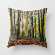 Autumn Beech Leaves  Throw Pillow
