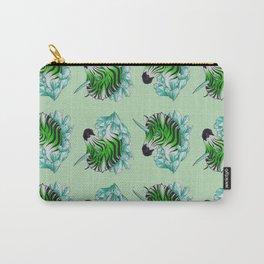 Green Zebracorn Carry-All Pouch