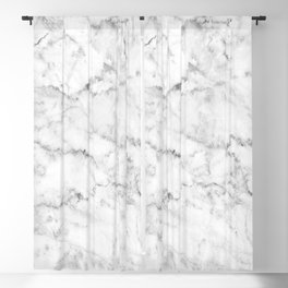 White marble gray accents Blackout Curtain