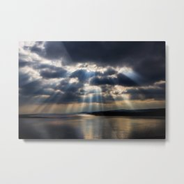 Sunbeams over Exmouth Metal Print