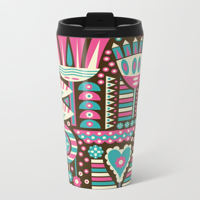 FLORAL PATTERNS Metal Travel Mug