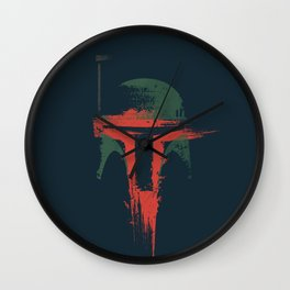 Boba Fett Art - StarWars Fan Painting Wall Clock