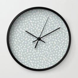 SILVER STARS CONFETTI Wall Clock