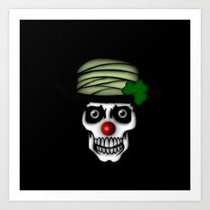Irish Clown Skeleton  Art Print