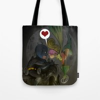 bats Tote Bags featuring Bats by Kaan Demircelik