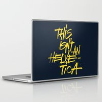 "lettering Laptop & iPad Skins featuring ""Helvetica"" Lettering by Sergi Ferrando"