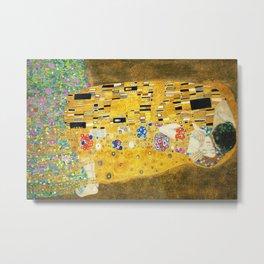 Gustav Klimt The Kiss Metal Print