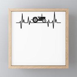 Heartbeat Tractor Farming Framed Mini Art Print