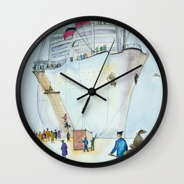 In the seaport Wall Clock