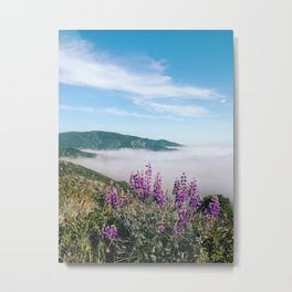 Big Sur Wildflowers Metal Print