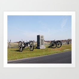 Gettysburg Battlefield Cannons Art Print