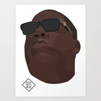 biggie smalls Art Prints featuring Biggie Smalls by SELS - Sebastian Emilio Luna Sevilla