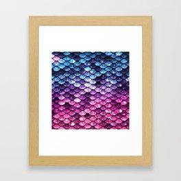 Mermaid Tail Pink Purple Blue Framed Art Print