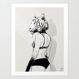 Bloody Tigress Art Print